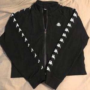 Kappa Black Bomber Jacket Medium